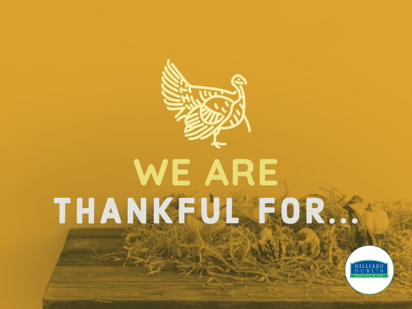 We Are Thankful For